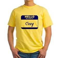 hello my name is clay T