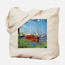 Monet Boats at Argenteuil Tote Bag