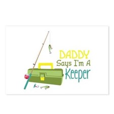 Daddy Says Im A Keeper Postcards (Package of 8)