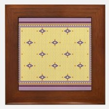 Golden Royal Bug Hex Tile Design Framed Tile