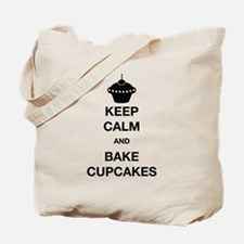 Keep Calm and Bake Cupcakes Tote Bag