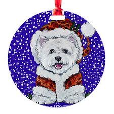Westie in Snow Ornament