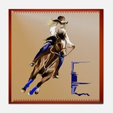 Barrel Horses Tile Coaster