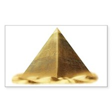 golden pyramid Decal
