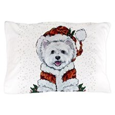 Santas Westie Helper Pillow Case
