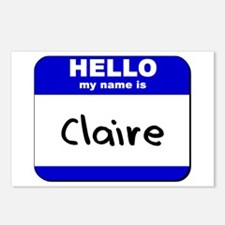 hello my name is claire  Postcards (Package of 8)