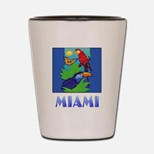 Macaw, Parrot, Butterfly,  Jungle MIAMI Shot Glass