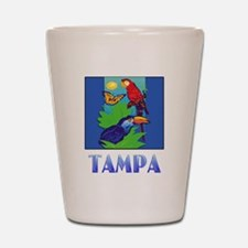 Macaw, Parrot, Butterfly,  Jungle TAMPA Shot Glass