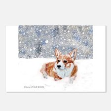 Corgi Winter Snow Postcards (Package of 8)