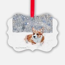 Corgi Winter Snow Ornament