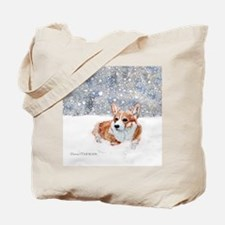Corgi Winter Snow Tote Bag