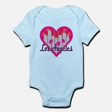 LA Skyline Sunburst Heart Body Suit