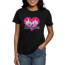 LA Skyline Sunburst Heart T-Shirt