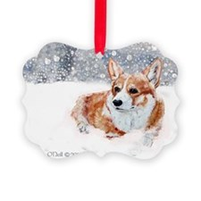 Winter Corgi Ornament