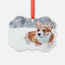 Winter Corgi Ornament