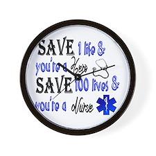Nurse, Save Wall Clock