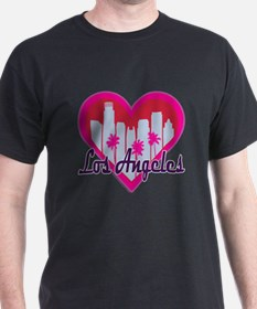Los Angeles Skyline Heart T-Shirt