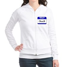 hello my name is chuck Fitted Hoodie