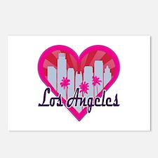 LA Skyline Sunburst Heart Postcards (Package of 8)