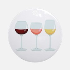 Wine Glasses Ornament (Round)