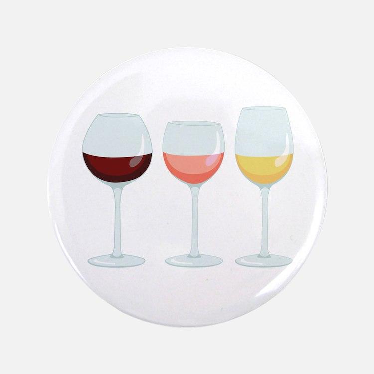 """Wine Glasses 3.5"""" Button"""