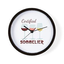 Certified SOMMELIER Wall Clock