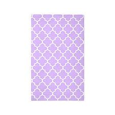 Lilac Quatrefoil Pattern 3'X5' Area Rug