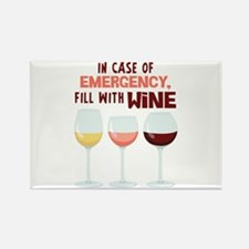 IN CASE OF EMERGENCY, FILL WITH WiNE Magnets