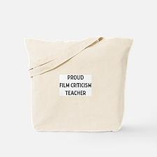FILM CRITICISM teacher Tote Bag