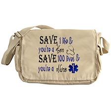 Nurse, Save Messenger Bag