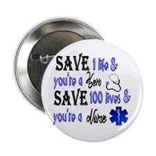 Nurse, Save 2.25&Quot; Button