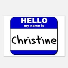 hello my name is christine  Postcards (Package of