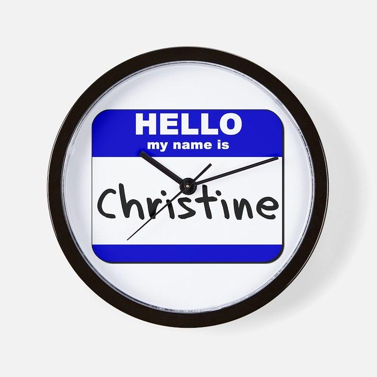 hello my name is christine  Wall Clock