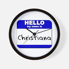 hello my name is christiana  Wall Clock