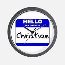 hello my name is christian  Wall Clock