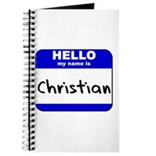 hello my name is christian Journal