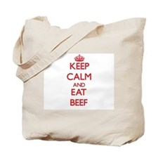 Keep calm and eat Beef Tote Bag