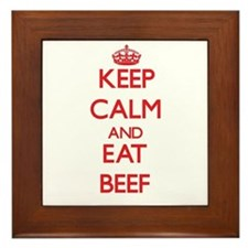 Keep calm and eat Beef Framed Tile
