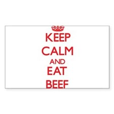 Keep calm and eat Beef Decal