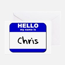 hello my name is chris  Greeting Cards (Package of