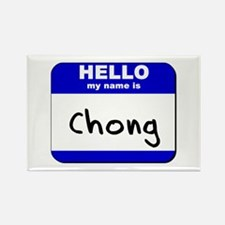 hello my name is chong Rectangle Magnet