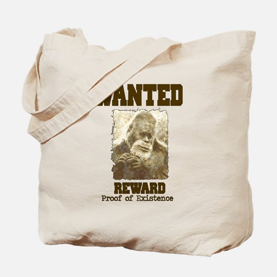 wanted sasquatch  Tote Bag