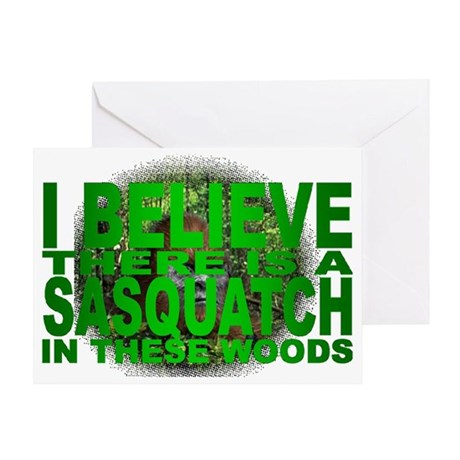 sasquatch in woods Greeting Card