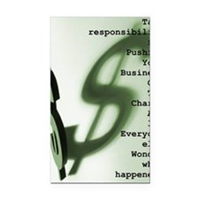 Take Responsibility Rectangle Car Magnet