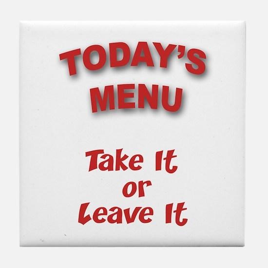 Today's Menu Tile Coaster