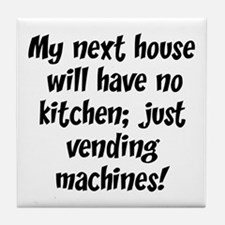 Kitchen Vending Machines Tile Coaster