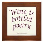 Wine Bottled Poetry Framed Tile