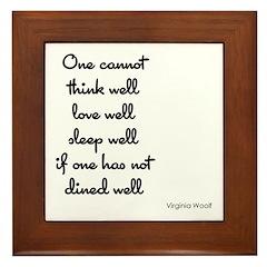 Virginia Woolf Quote Framed Tile