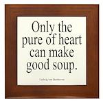 Beethoven Good Soup Framed Tile