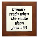 Smoke Alarm Saying Framed Tile